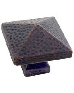 Satin Bronze Arts & Craft-Style Square Knob, 1-1/4''