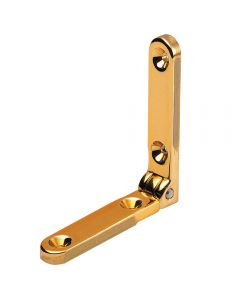 "Solid Brass Standard Side-Rail Hinges are machined out of solid brass, have a 95° stop and are 1/8"" thick"
