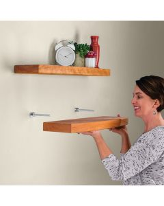 Easily create shelves that appear to float on the wall!