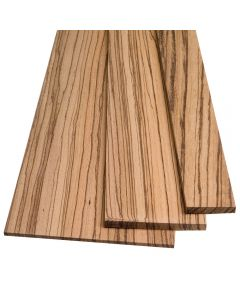 """Zebrawood lumber by the Piece-1/4"""" Thickness"""
