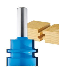 "Rockler Wedge Tongue and Groove Router Bit - 1-1/2"" Dia x 1-3/16"" H x 1/2"" Shank"