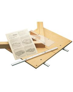 Miter Slider comes with FREE illustrated plans to make popular table saw jigs, such as this miter jig