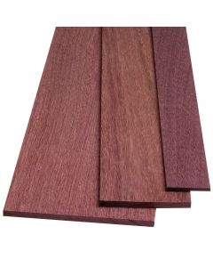 Purpleheart rapidly attains its vibrant color after being sawn.