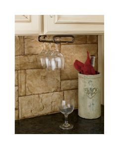 Stemware Holder in Oil-Rubbed Bronze finish