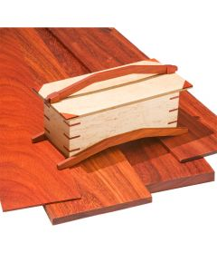 Paduak lumber is prized for its rich, crimson color and excellent durability.