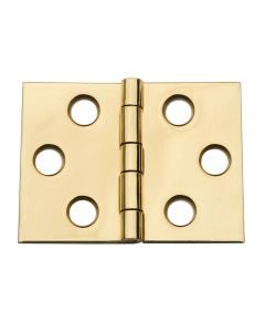 Wide Miniature Solid Brass Hinges