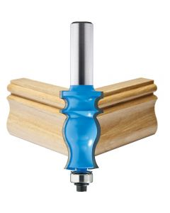 """Rockler French Traditional Router Bit - 1-1/2"""" Dia x 1-11/16"""" H x 1/2"""" Shank"""