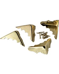 Brass Plated Trunk Corners