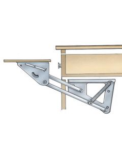 Under Drawer Swing Up Appliance Mechanism