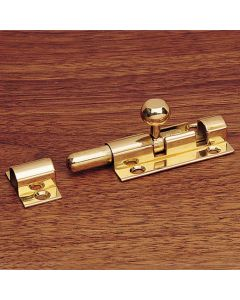 Sliding Security Bolt, Solid Brass