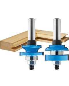 "Rockler Round-Edge Matched Stile and Rail Router Bit Set - 1-5/8"" Dia x 1"" H x 1/2"" Shank"