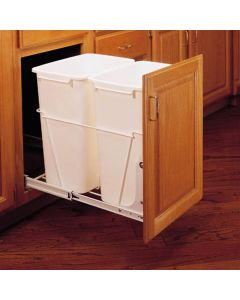 32577-Double 35 quart Bin Pullout with Door Mounting Brackets