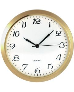 "2"" Solid Brass Plated Clock Insert"