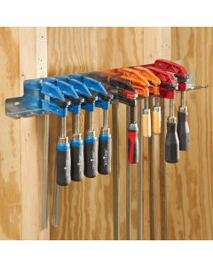 Hang a variety of F-clamps in a central location