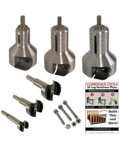 3-piece Professional Series Master Tenon Cutter Kit