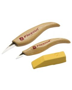 Whittler's Set includes detail knife, mini detail knife and stropping compound