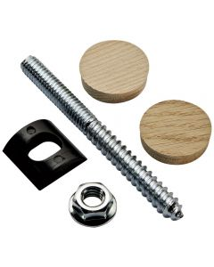 Rail Bolt Fastener with Plugs