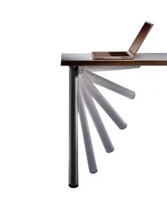 Leg easily folds under table (table not included).