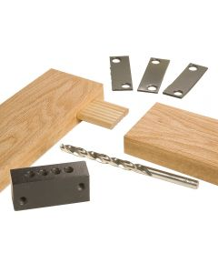 "Rockler 1/4"" Accessory Kit (Guide Block, Drill Bit and Shim Set)"