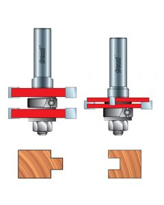 "Freud® 99-036 Adjustable Tongue & Groove Router Bit Set - 1/2"" Shank"
