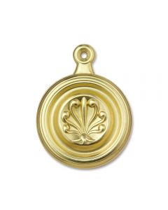 "Fleur-de-lis Satin Brass - 1-3/4"" Dia Bed Bolt Cover"