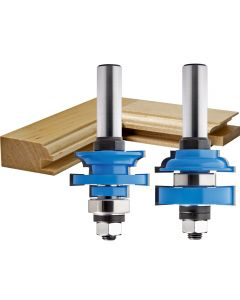 "Rockler Bead In-Stile and Rail Router Bit Set - 1/2"" Shank"