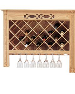 Fit the lattice and wine glass molding to an existing cabinet for wine storage like this