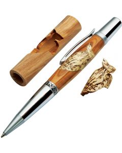 Woodturner's Praying Hands Laser-Cut Inlay Pen Kit Blank