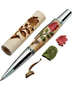 Create a beautiful, custom inlaid pen blank (pen hardware sold separately)
