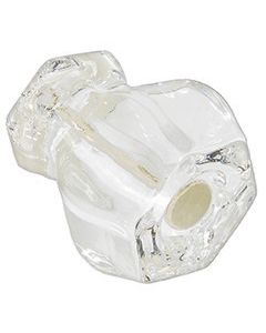 Beautiful glass knob goes with any decor.