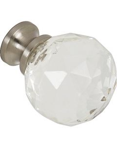 Clear Glass with Brushed Nickel Base Knob