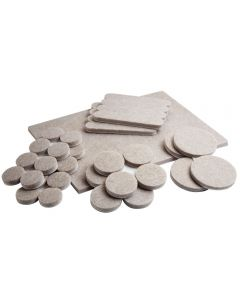 You get multiple sizes of felt pads for virtually any application