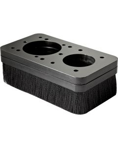 CNC Dust Boot is easy to take off and reinstall when you need more visibility of the bit area.