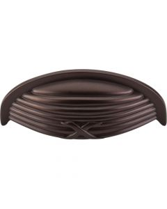 Oil Rubbed Bronze Edwardian Ribbon & Reed Cup Pull 3'' (c-c)