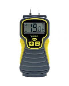 LCD moisture meter is highly accurate to +/- 3% and has a digital LCD readout
