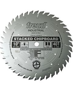 "Freud LU81M010 10"" x 40T Industrial Heavy Duty Stacked Chipboard Blade (other sizes available)."