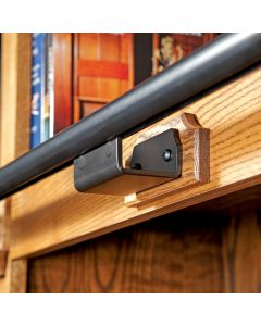Rockler Track Bracket, Hook Style, Horizontal Mount, Black Finish