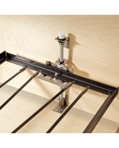 The casket bed frame measures 73-1/4