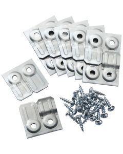 Includes 6 pairs of table aligners per pack with screws