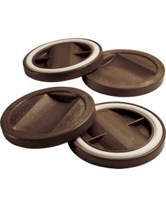 Slipstick® Gripper Large Caster Cups, Chocolate
