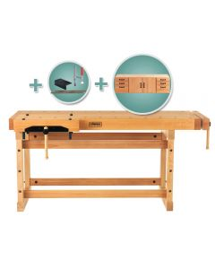 Sjobergs Elite Workbench 2000 with Cabinet SM04 and Accessory Kit