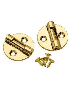 35mm Brass-Plated Lid Support Hinges