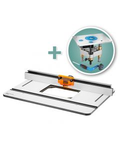 Rockler Phenolic Router Table Top, Pro Fence & Pro Lift Router Lift