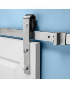 Two-piece track mechanically interlocks with a strong dovetail joint
