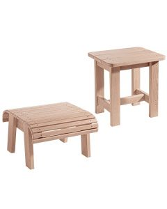 Adirondack Foot Stool and Side Table Plans