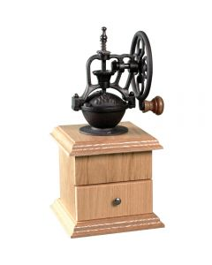 41846 - Wheel Coffee Grinding Mechanism shown completed with Wheel Coffee Mill Well Kit, Oak (sold separately, 52592)