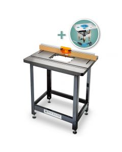Bench Dog Cast Iron Router Table, Pro Fence, Steel Stand & Pro Lift Router Lift