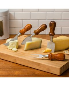 Serve up your cheese platters in style with this array of four specialty cheese knives.