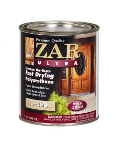 ZAR® Ultra Exterior Oil-Based Polyurethane, Satin, Quart