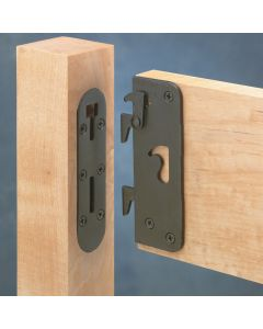 Locking bed rail brackets are safe, convenient, and secure